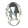 Cabouchons Acrylic 18/13mm Oval Facet Crystal